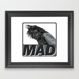 Raven Mad Framed Art Print
