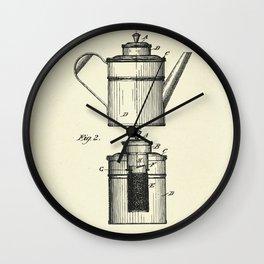 Coffee Percolator-1894 Wall Clock