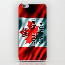 We Love You Canada iPhone Skin
