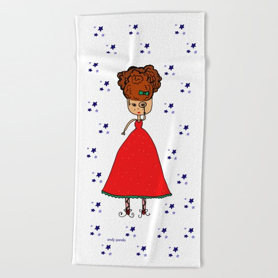 Looking at the stars Beach Towel
