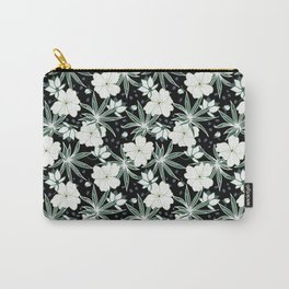 Hawaii floral on dark ground Carry-All Pouch