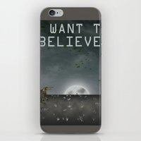 i want to believe iPhone & iPod Skins featuring I Want To Believe by Conceptualized