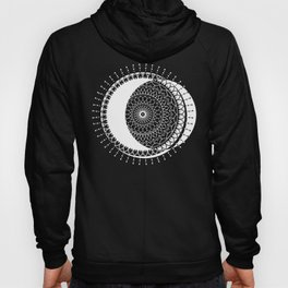Moon Mandala (White) Hoody