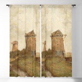 Paul Joseph Constantin Gabriël - Two Windmills between Abcoude and Ouderkerk on the Amstel Blackout Curtain