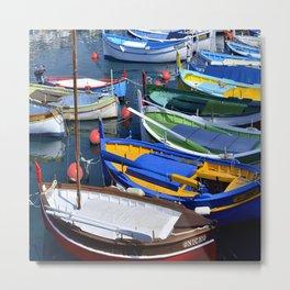 Port de Nice Boats Metal Print