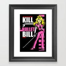 Kill Bullet Bill (Black/Magenta Variant) Framed Art Print