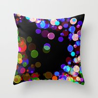 bubbles Throw Pillows featuring Bubbles by haroulita