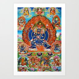 Tantric Buddhist Vajrabhairava Deity 3 Art Print