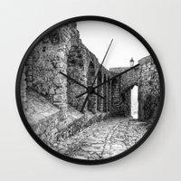 spain Wall Clocks featuring Castellar, Spain by Simon Ede Photography