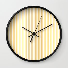 Trendy Large Yellow Butter French Mattress Ticking Double Stripes Wall Clock