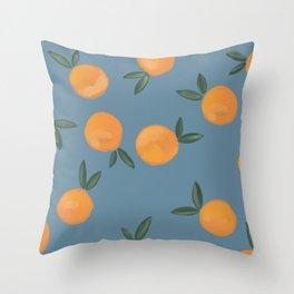 Orange Blossom Throw Pillow