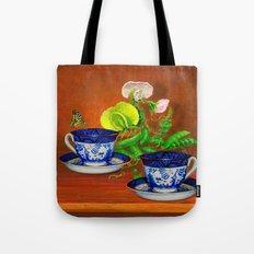 Teacups with Snap Peas Tote Bag