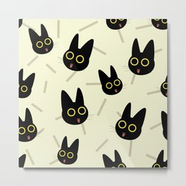 Happy Kitten pattern Metal Print