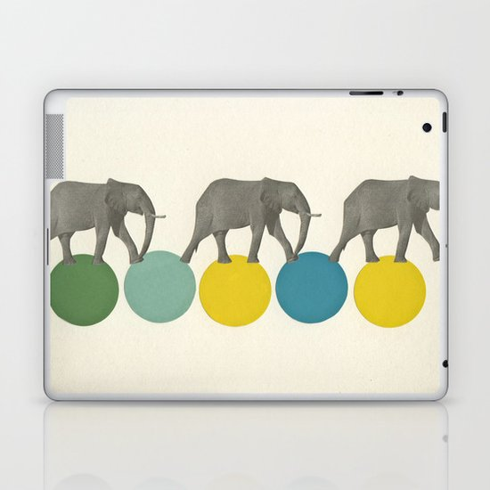 Travelling Elephants Laptop & iPad Skin