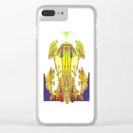 Queen Ann's Lace Floral Design Clear iPhone Case