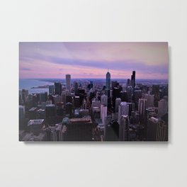 Chicago Sunsets Metal Print