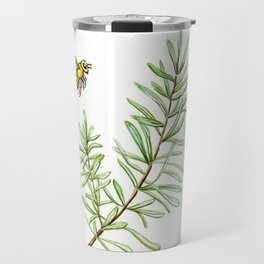Rosemary and Honey Bee Travel Mug