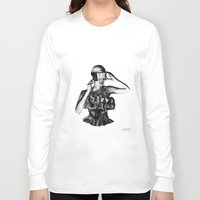 steve mcqueen Long Sleeve T-shirts featuring McQueen by BrittanyJanet Illustration & Photography