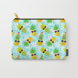 Funny Tropical Christmas Pineapples Carry-All Pouch