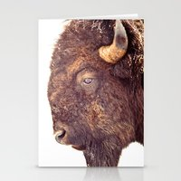 bull Stationery Cards featuring Bull by BonZeye Studio