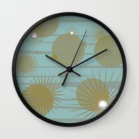 planets Wall Clocks featuring Planets by carriejeandesigns