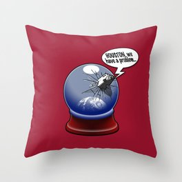 Houston, we have a problem Throw Pillow