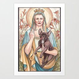 Our Blessed Rebel Queen, Carrie Fisher Art Print