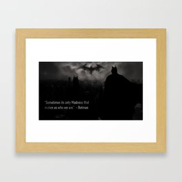 Bat man Madness Framed Art Print