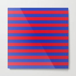 Blue and Red Stripes Metal Print