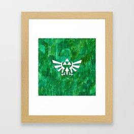 Zelda Triforce Painting Framed Art Print