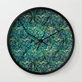 Persian Oriental pattern abalone and silver Wall Clock