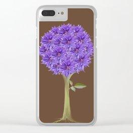 Flowerpower - Purple Flower Ball - Society6# #buyart Clear iPhone Case