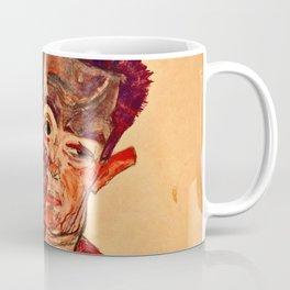 Egon Schiele - Self Portrait With Eyelid Pulled Down Coffee Mug