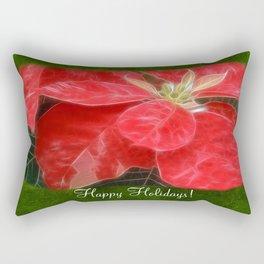 Mottled Red Poinsettia 1 Ephemeral Happy Holidays P1F1 Rectangular Pillow