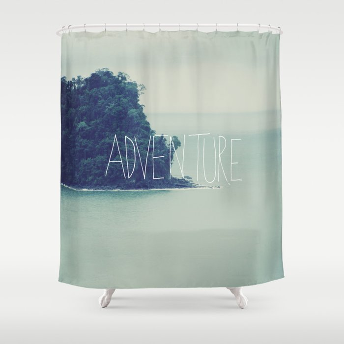 adventure island shower curtain by floresimagespdx society6. Black Bedroom Furniture Sets. Home Design Ideas