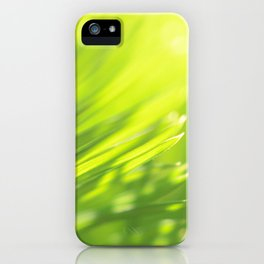 Palm tree leaves Tropical summer green yellow jungle iPhone Case