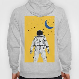 Astronaut Portrait on a Yellow Background Hoody