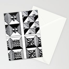 Engraved Patterns Stationery Cards