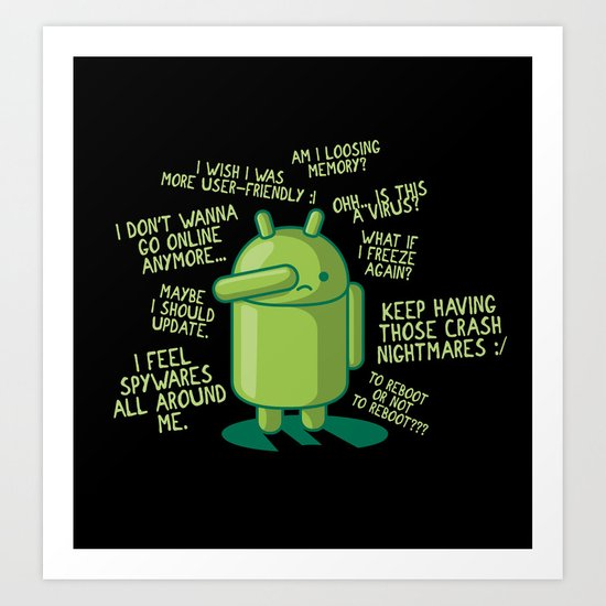 PARANOID ANDROID Art Print