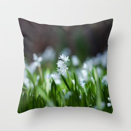 Squill Flowers Throw Pillow
