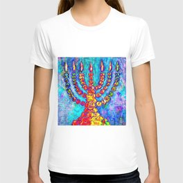 Temple Menorah T-shirt
