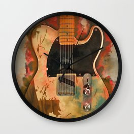 Jeff Beck's electric guitar Wall Clock