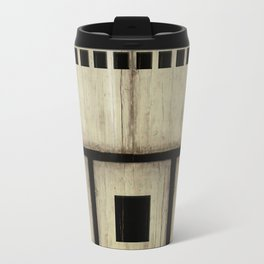 """Rustic white and black wood"" Travel Mug"