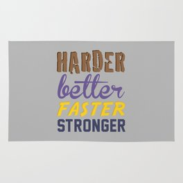 Harder Better Faster Stronger Rug