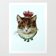 Queen Kitty Art Print