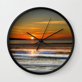 Silver and Gold Sunset Wall Clock