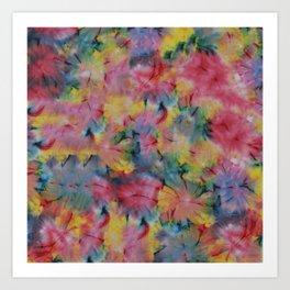 Crunch Tie Dye Art Print