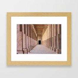 Hall of Pillars Framed Art Print