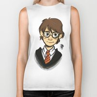 harry Biker Tanks featuring HARRY  by art of Bianca