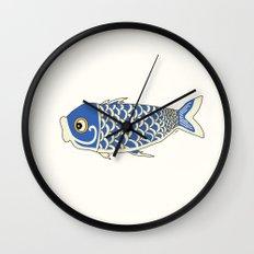 Koi Blue Wall Clock